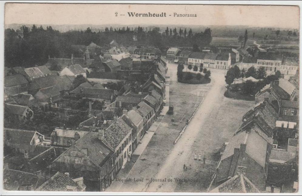 Wormhout - Wormhoudt. - Panorama. - Carte postale ancienne et vue d'Hier et  Aujourd'hui - Geneanet