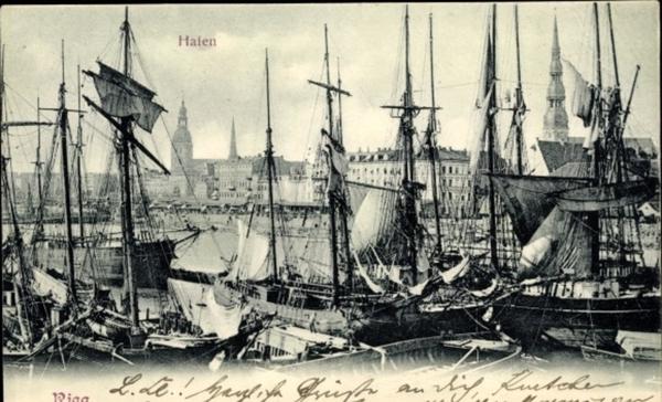 Riga - Cp Riga Lettland, Hafen, Schiffe