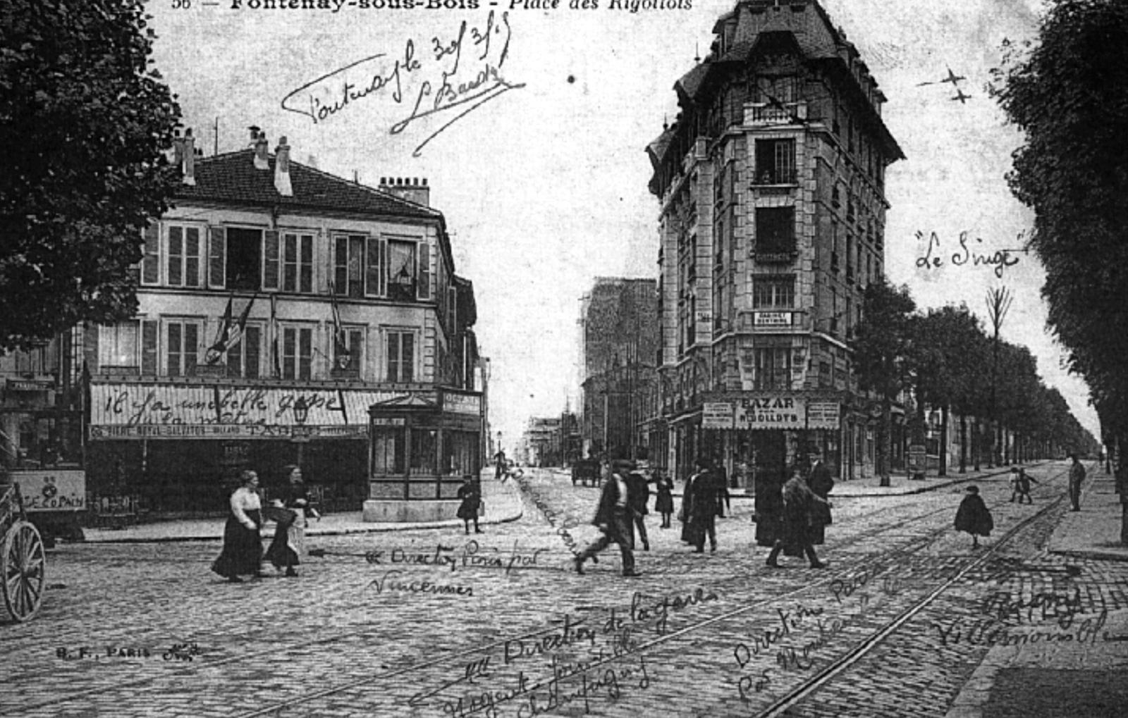 Bibliothèque De Fontenay Sous Bois fontenay-sous-bois - carte postale ancienne et vue d'hier et