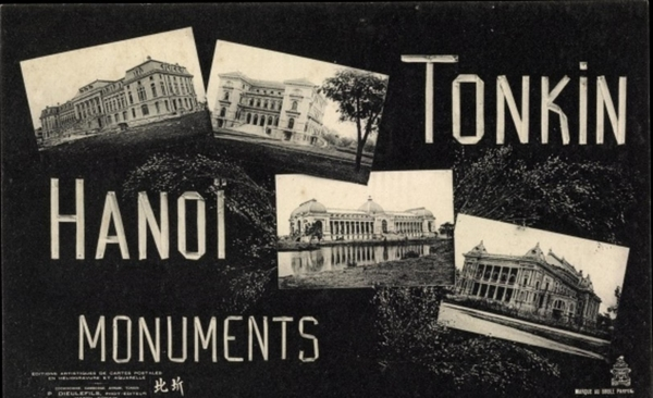 Hanoi - Cp Hanoi Tonkin Vietnam, Monuments, Buildings