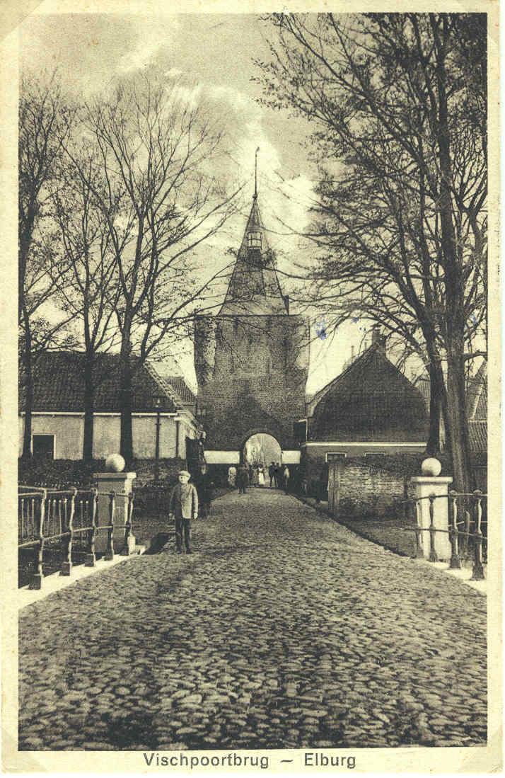 Elburg - Vischpoortbrug, 1936