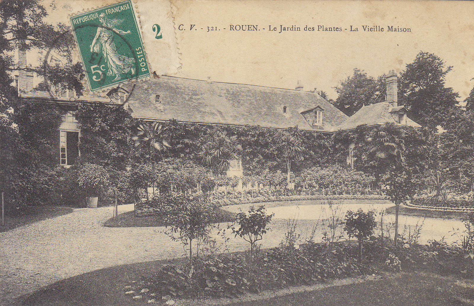 Rouen Le Jardin Des Plantes La Vieille Maison Carte Postale