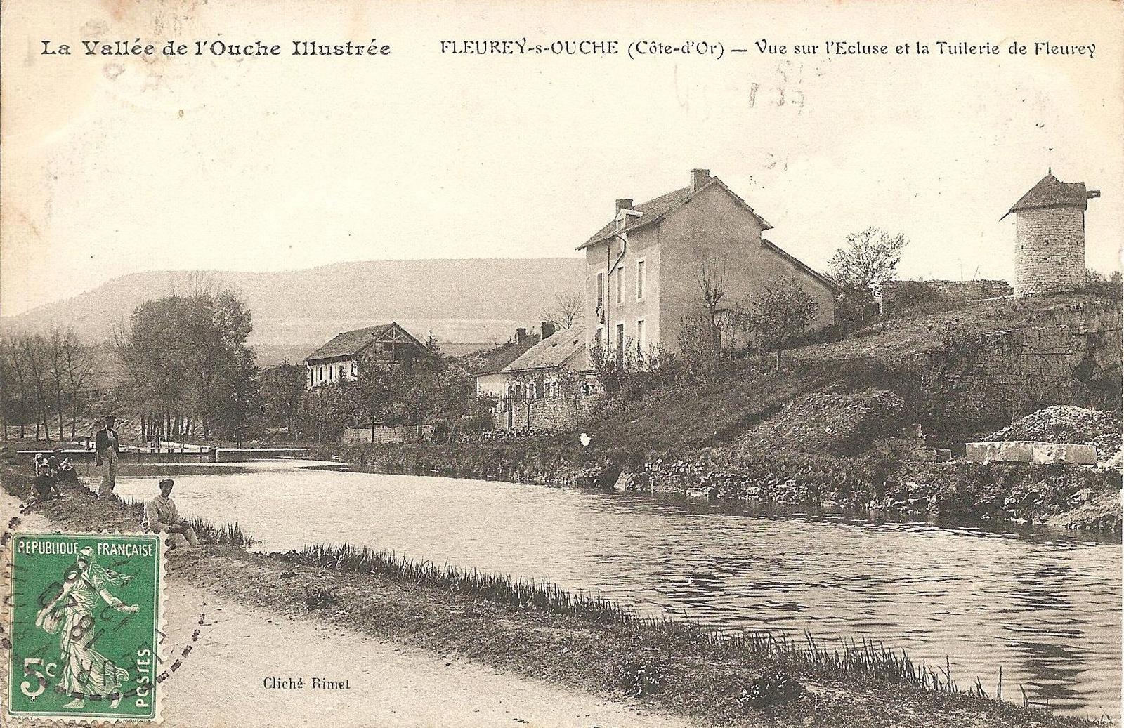 Canal De Bourgogne Carte.Fleurey Sur Ouche Le Moulin A Vent Et Le Canal De Bourgogne Carte