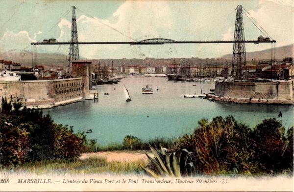 Marseille - Marseille - Vieux Port et Pont Transbordeur.