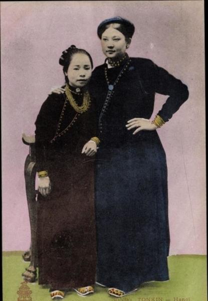 Hanoi - Cp Hanoi Tonkin Vietnam, Groupe de Femmes
