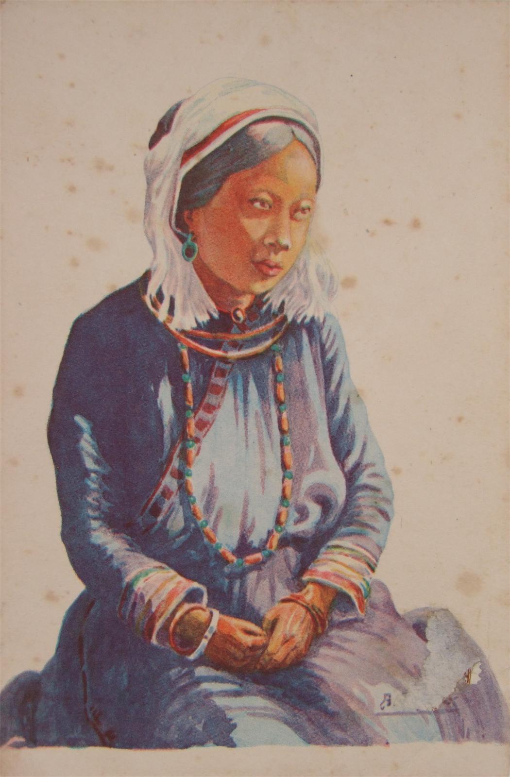 -  Indochine - Femme Man-Haute région (1939)