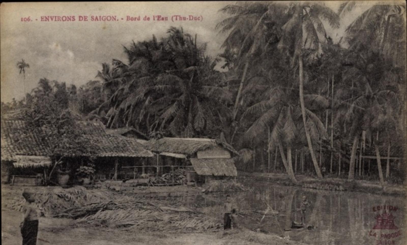 Hô Chi Minh-Ville -  Cp Saigon Cochinchine Vietnam, Environs de Saigon, Bord de l'Eau