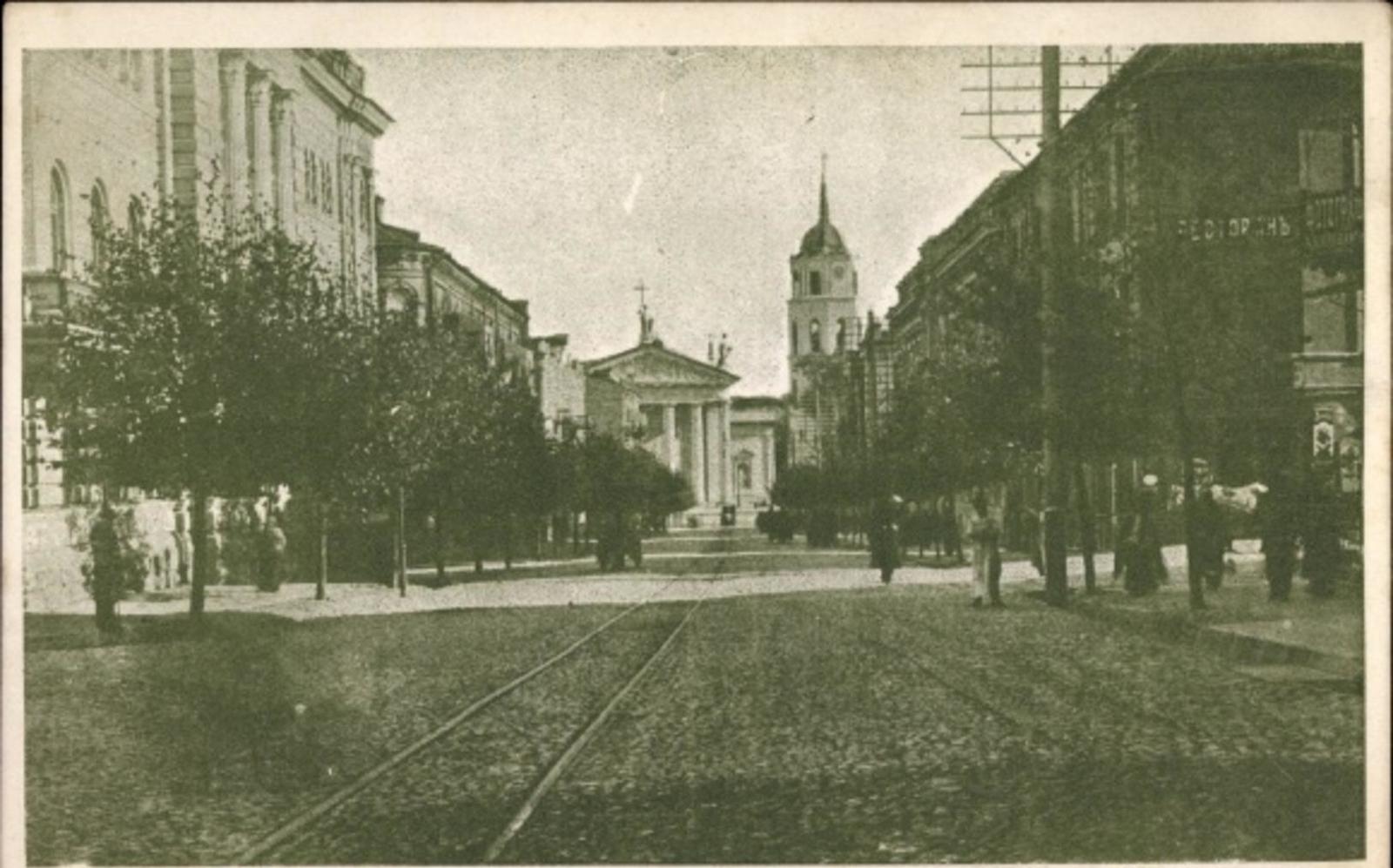 Vilnius -  Cp Vilnius Wilna Litauen, Partie auf der Sankt Georg Straße
