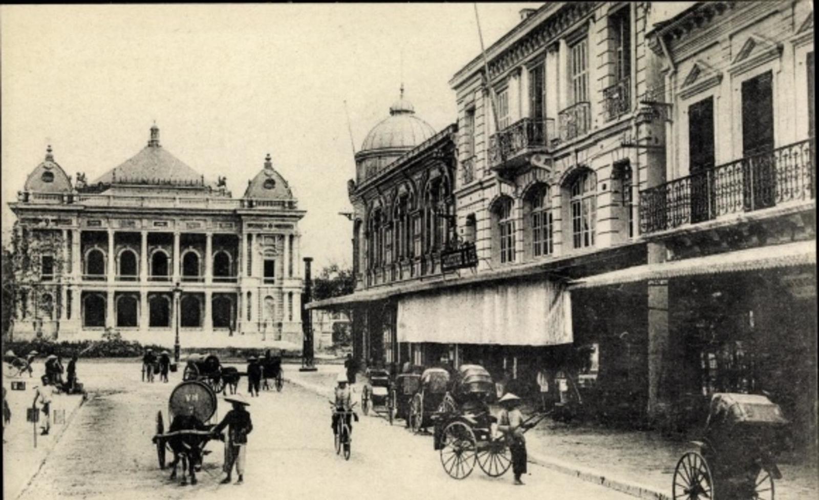 Hanoi -  Cp Hanoi Tonkin Vietnam, Theatre, Rue Paul Bert
