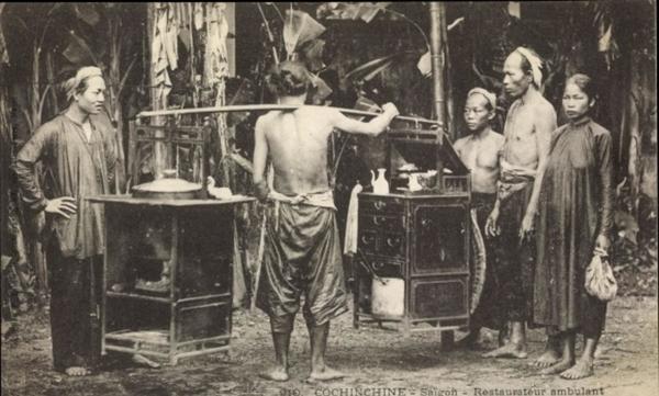 Hô Chi Minh-Ville - Cp Saigon Cochinchine Vietnam, Restaurateur ambulant