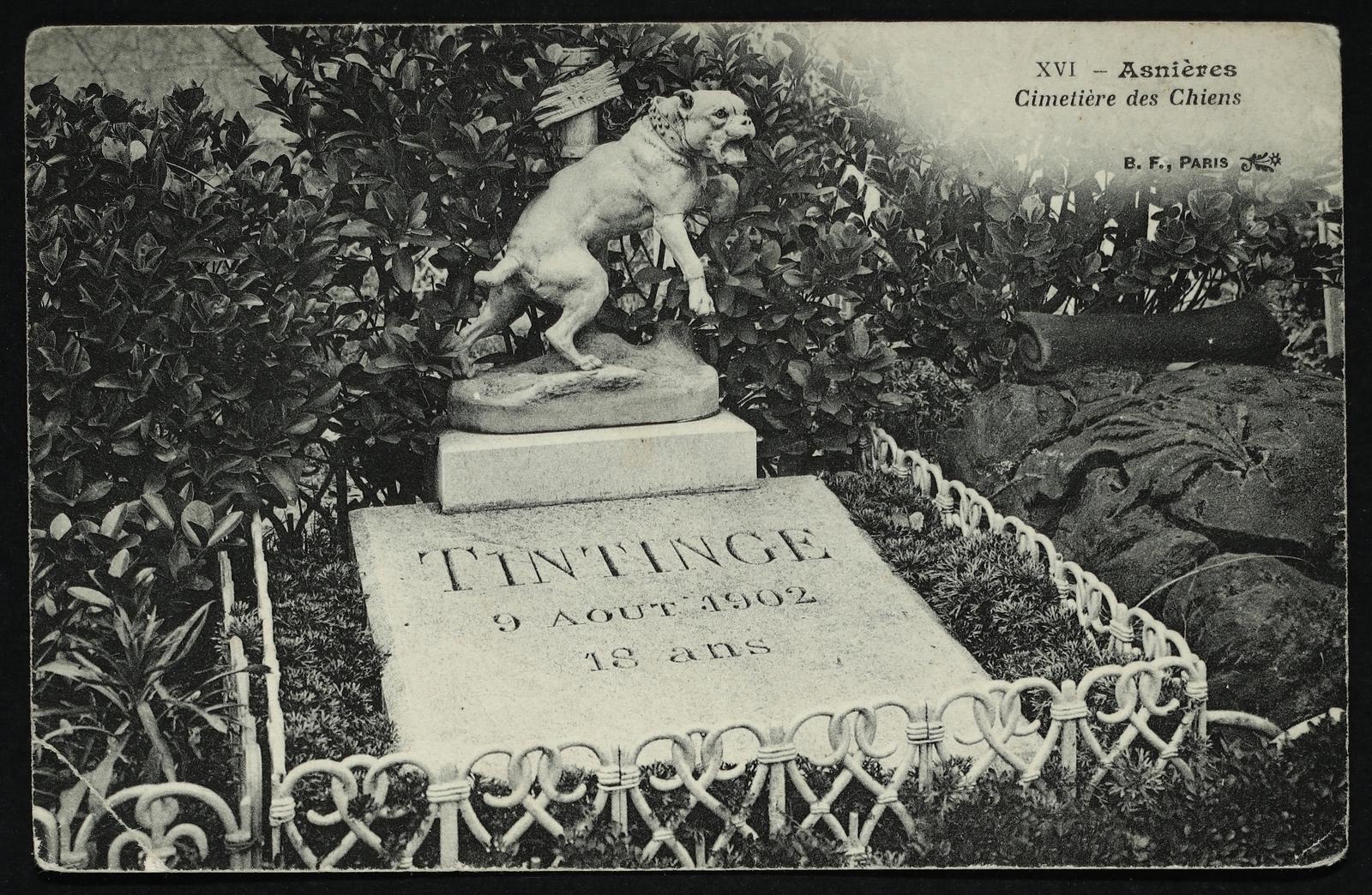 Asnières-sur-Seine -  [Tombe de Tintinge] Cimetière des Chiens