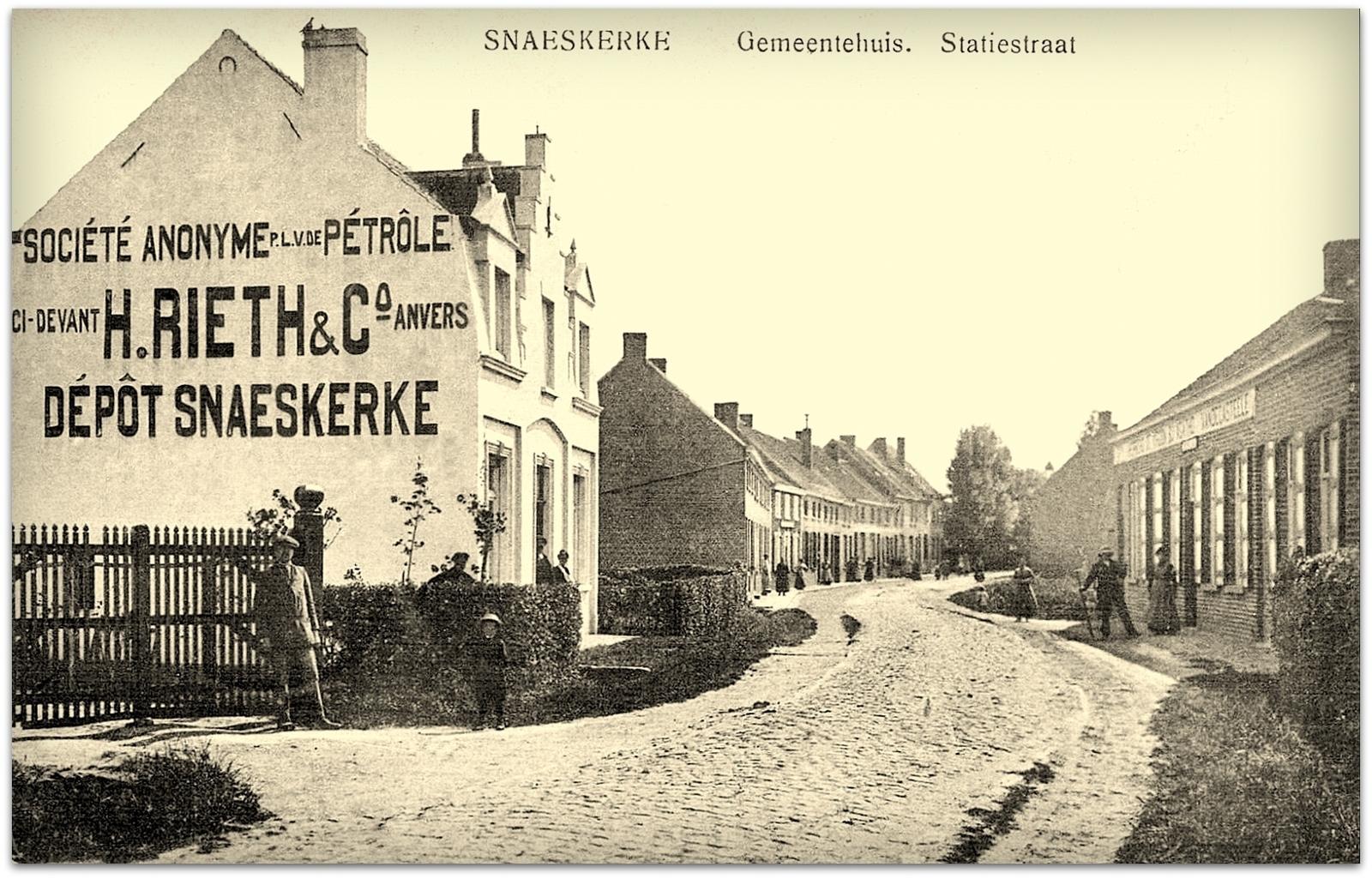 """Snaaskerke - Snaaskerke """" Zicht op de Statiestraat """""""