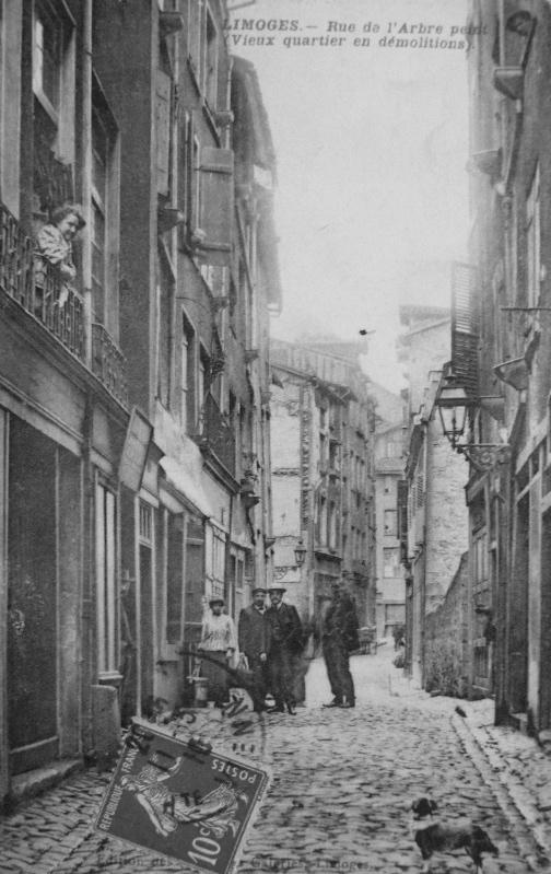 Limoges - Rue de l'Arbre Peint (Vieux Quartier en démolitions)