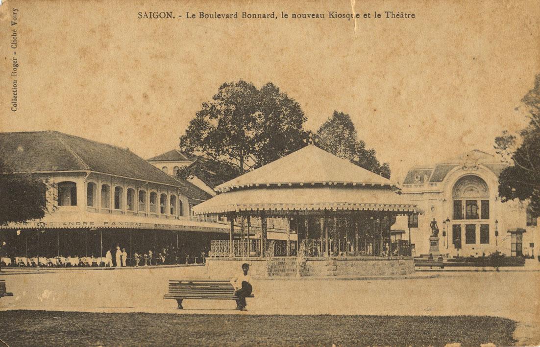 Saïgon -  Saïgon 1909 - Bd Bonnard nouveau Kiosque & théâtre