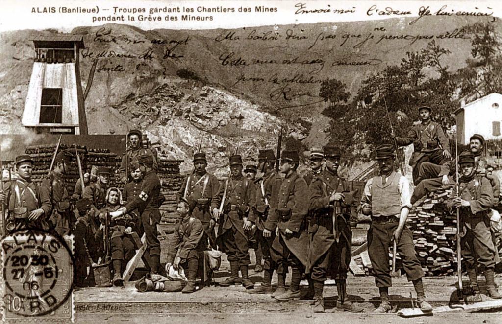 Alès - Grève des ouvriers métallos et mineurs de Tamaris
