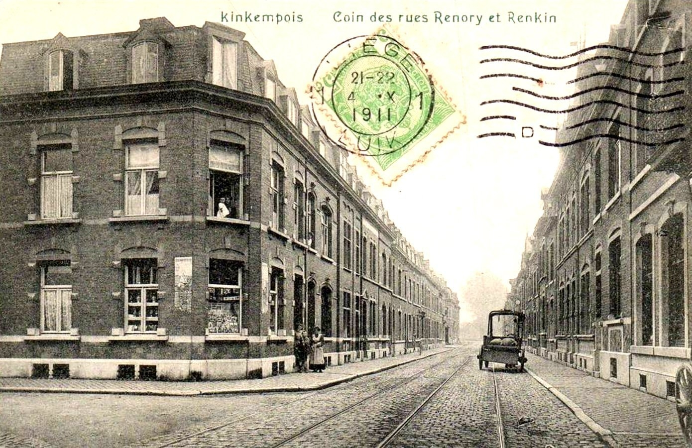 Liège -  Quartier de Kinkempois - Coin des rues Renory et Renkin.