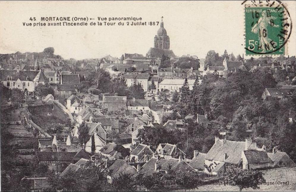 Mortagne au Perche - Mortagne au Perche - Vue Panoramique Vue prise avant l'incendie de la Tour du 2 Juillet 1887