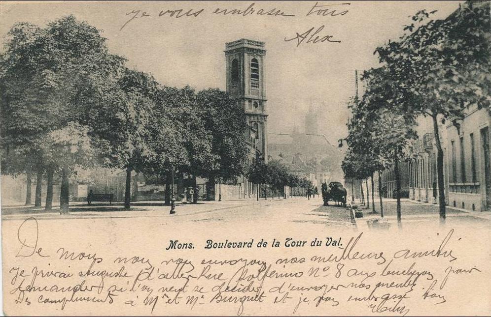 Carte Belgique Mons.Belgique Mons Boulevard De La Tour Du Val Carte Postale