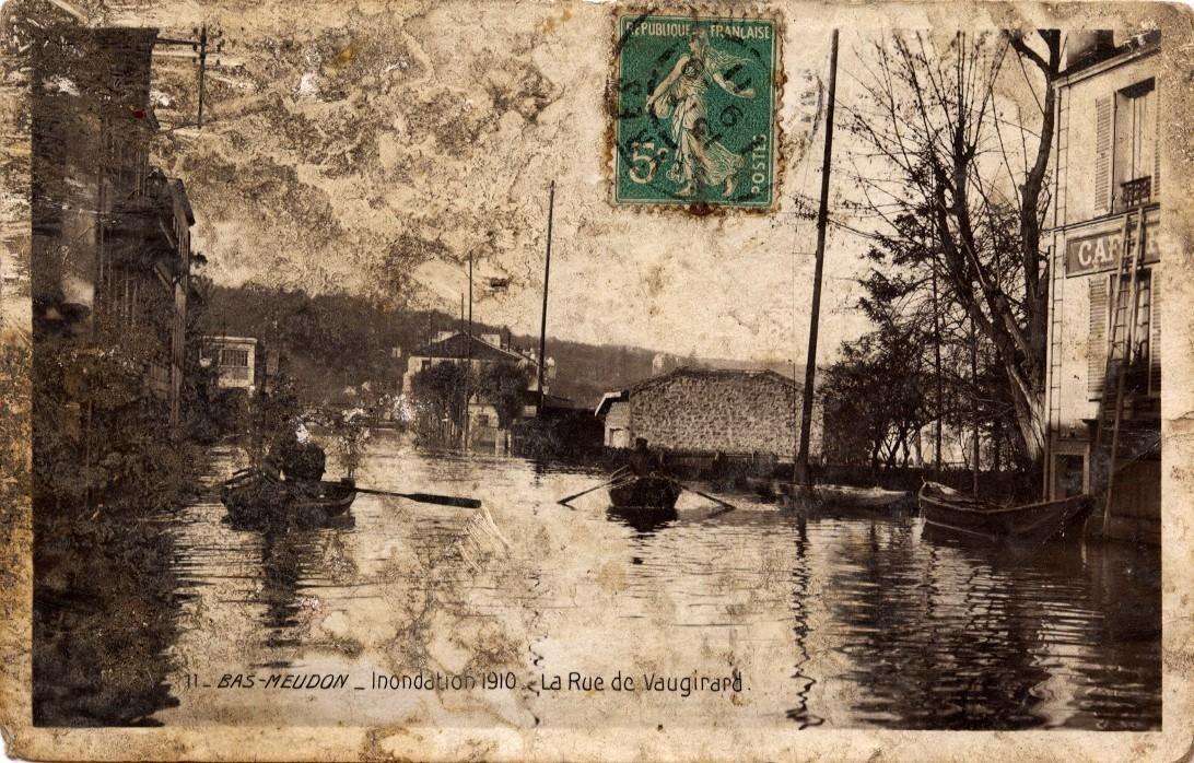 Meudon - Inondations de 1910. La Rue de Vaugirard.