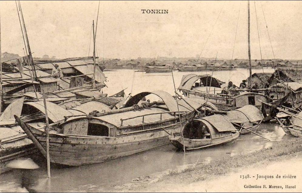-  tonkin - jonques de rivière