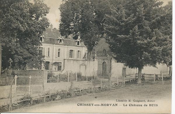 Chissey-en-Morvan - Chissey-en-Morvan. Le château de Buis.