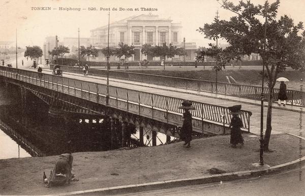 Haiphong - TONKIN-Haiphong-Pont de Doson et Théâtre