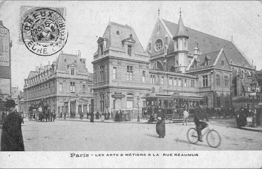 Paris -  75 PARIS LES ARTS ET METIERS ET LA RUE REAUMUR ANIMES