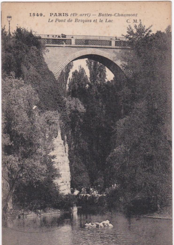 Paris - 75. PARIS. Buttes-Chaumont. Le Pont de Briques et le Lac. 1549