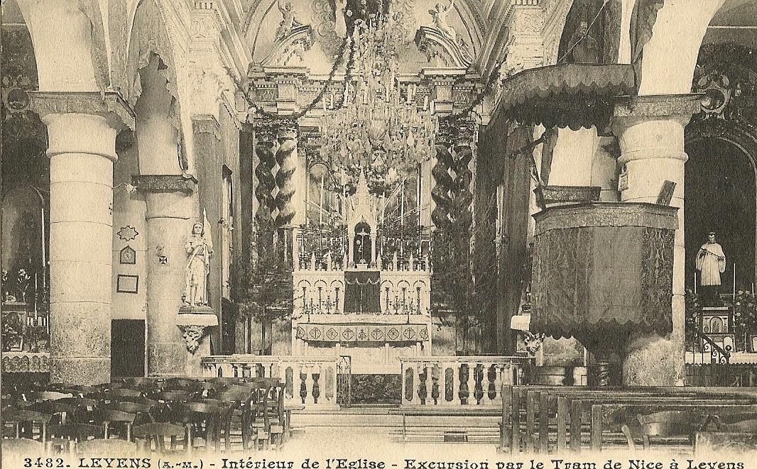 Levens - Levens intérieur de l'église Saint Antonin