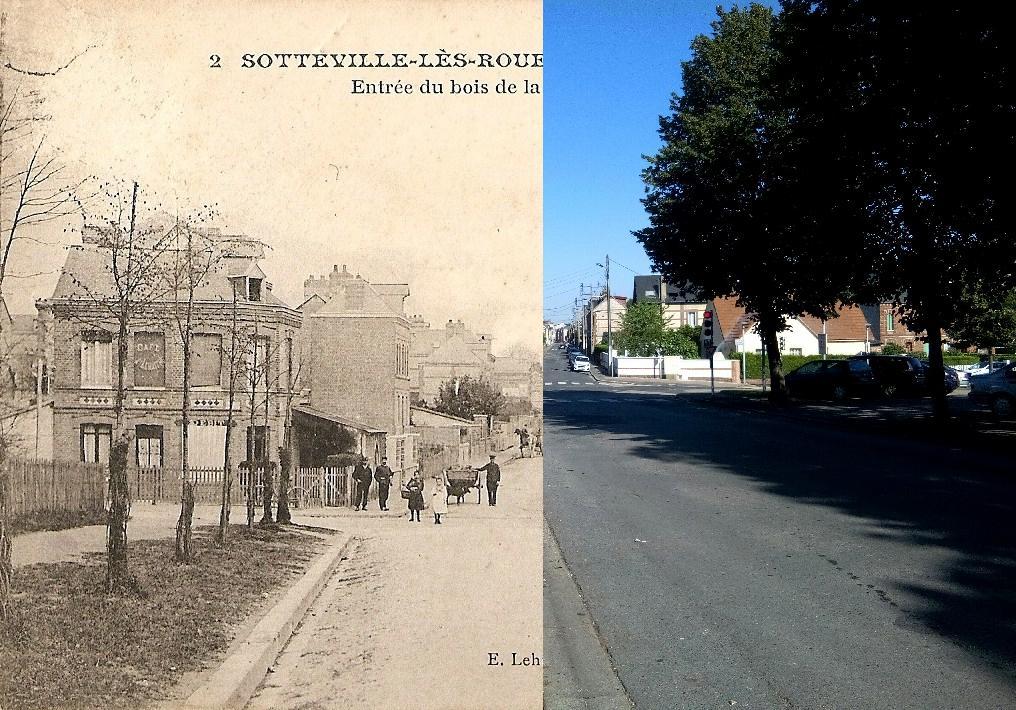 Sotteville-lès-Rouen - Rue de Trianon, entrée du bois de la Garenne